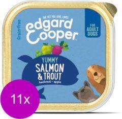Edgard & Cooper Zalm & Forel Kuipje - Voor volwassen honden - Hondenvoer - 11 x 150g