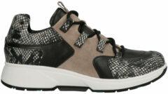 Zwarte Xsensible Stretchwalker Vrouwen Leren Sneakers - 30207.3 - 37