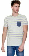 MZ72 - Heren T-Shirt - Torany - Gestreept - Grijs