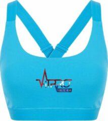 FitProWear Dames Sporttop Taurito - Blauw - Maat S - Sport Beha - Sport BH - Fitness kleding - Sporthemd - Sportshirt - Fitness top - Fitness BH - Fitness Beha - Taurito - Crop Top - Naadloze sporttop