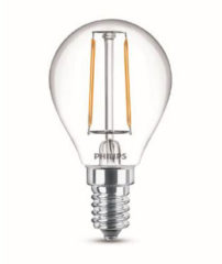 Philips Lighting 8718696573914 LED-lamp E14 Kogel 2 W = 25 W Warmwit Filament / Retro-LED Energielabel A++ (A++ - E) 1 stuks