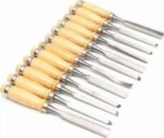 Zilveren Merkloos / Sans marque Houtbewerking set 12-delig – Houtsnijmes – Houtbeitelset 12-delig – Houtsnijden gereedschap – Woodcarving knife – Gutsen set