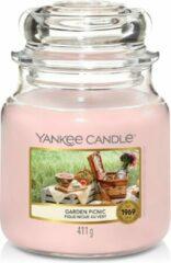 Roze Yankee Candle - Garden Picnic Candle ( zahradní piknik ) - Vonná svíčka