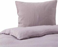 Passion for Linen Luxe dekbedovertrek Maxime 100% linnen, 200 x 220 cm, lila