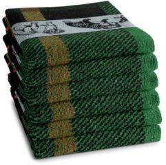 Donkergroene DDDDD Keukendoek Bully 50x55cm - groen - set van 6