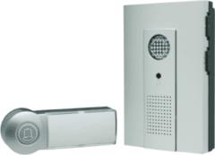 Antraciet-grijze Smartwares DB286A Draagbare draadloze deurbel compleet– Flitslicht – 16 Hollywood melodieën