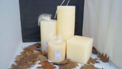 4 Delig Handgemaakte Sierkaarsen Decoratie Set - Warm wit