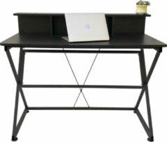 VDD Industrial Vintage Design Bureau tafel computer laptop Stoer - industrieel moderne stijl - 110 cm breed - zwart