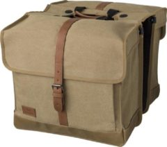 Zandkleurige Fastrider Isas Double Bag Fietstas Sand Brown