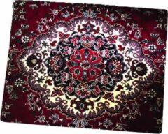 FineGoods Muismat tapijt - perzisch - muismatten - 18 x 22 cm - mouse pad - mousepad - rood - zwart - wit - blauw