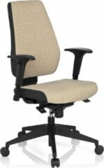 Hjh office Bureaustoel - Verstelbare Armleuning - Stof - Beige - Ergonomisch