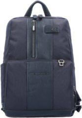 Brief Business Rucksack 38 cm Laptopfach Piquadro blue