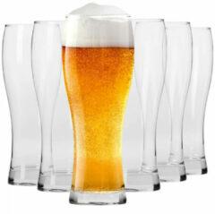 Transparante Krosno Lange Bierglazen - Set van 6 - 500ml