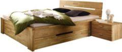 WOODLIVE Bett 140x200 in Wildeiche massiv geölt
