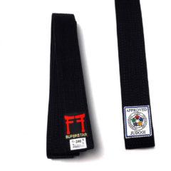 Bruine Fighting Films IJF approved judo band zwart of bruin
