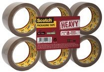 Scotch Verpakkingstape, Heavy -Flat Pack/6 rollen, Bruin, 50 mm x 66 m, pp 237