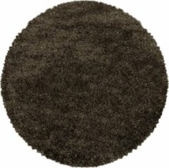 Impression Himalaya Pearl Soft Rond Shaggy Hoogpolig Vloerkleed Bruin - 200 CM ROND