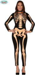 Zwarte Guirca Spook & Skelet Kostuum | Dansend Geraamte Bodysuit Ballerina | Vrouw | Maat 38-40 | Halloween | Verkleedkleding