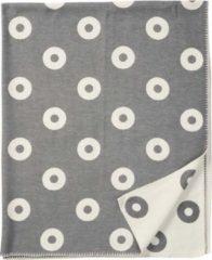 Rings organic cotton ledikantdeken grijs - Klippan 90x140cm
