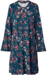 Jersey-Kleid mit Blumen-Print Sara Lindholm Petrol