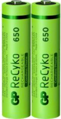 GP batterijen Oplaadbare AAA batterij (potlood) GP Batteries ReCyko+ DECT Phone HR03 NiMH 650 mAh 1.2 V 2 stuk(s)