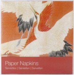 Rode LANZFELD Papieren servetten, Tulp tegel Delft blauw polychroom