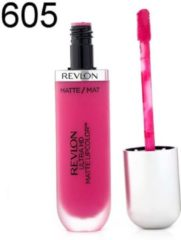 Roze Revlon Ultra HD Matte Lip Color 5.9ml - 605 Obsession