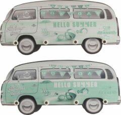 J-Line Kapstok Minibus Mdf Groen Assortiment Van 2