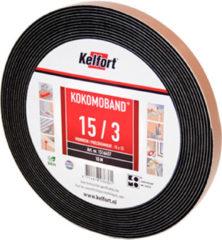 Kelfort afdichtingsband gecomprimeerd Kokomoband plus zwart 12.5 m 15/2 mm