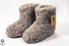 Fast wool Wollen sloffen - laars model - gemêleerd - maat 44