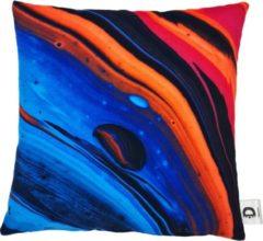 Decolenti   Sierkussenhoes   Blue Red Lava   Blauw   Rood   Oranje   Roze   Wasbaar   Decoratie   45cm x 45cm