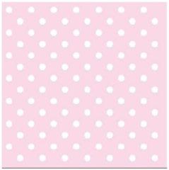 Ambiance servetten Servetten met stippen roze 3-laags 20 stuks