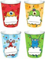 Merkloos / Sans marque Monster Party Bekers Karton 200ml 8 stuks