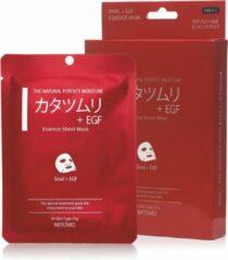 Witte Mitomo Japan Mitomo™ Snail & Egf Gezichtsmasker - Anti Aging Face Mask - Gezichtsverzorging Masker