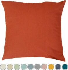 Oranje Sierkussens tuin: Qush Royal Sunbrella Paprika | Vlekbestendig | Wasmachine | Waterbestendig | Kleurvast | Schimmelwerend l Babyproof | Wasbaar | sierkussens | werpkussens buiten