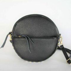 Kosmeoo Bags - Crossbody tas - Handgemaakt - Italiaans leer - Kim Zwart/Goud