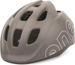 Grijze Bobike One Plus baby/peuter helm XS - Urban Grey
