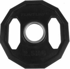 Zwarte Tunturi Olympische Halterschijf - Halter gewichten - 2x 2,50 kg - 50mm - Rubber