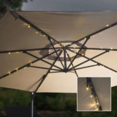 Huismerk Premium Solar LED Lichtketting voor Parasols - 130 cm