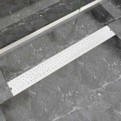 Roestvrijstalen VidaXL Doucheafvoer rechthoekig bubbel 930x140 mm roestvrij staal