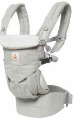 Grijze ERGOBABY Omni 360 Carrier Pearl Grey - vanaf geboorte zonder verkleinkussen