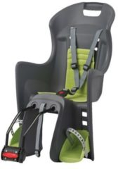 Polisport Kindersitz Boodie FF, dunkelgrau-grün, Rahmenbefestigung