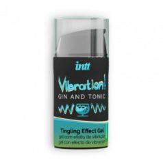 Intt Vibration! Gin & Tonic Tintelende Gel - Sensatie - Glijmiddel - Waterbasis - Gel - Eetbaar - Kriebelend