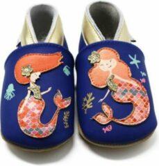 Blauwe Lait et Miel - Babyslofjes - Leer - 06-12 maanden - Zeemeermin