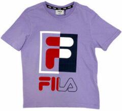 Paarse T-shirt Korte Mouw Fila 688149