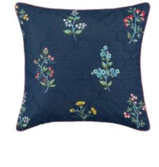 Perkal Kissen 'Wonderland' PIP Dark blue