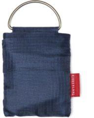 Kikkerland Boodschappentas - Voor aan je sleutelhanger - Gemaakt van Ripstop-stof - Draagvermogen tot 25 KG - Blauw