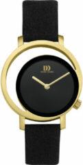 Gouden Danish Design edelstalen dameshorloge Pico Black Gold IV15Q1271