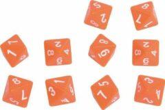 Oranje Eduplay Reken dobbelstenen 8 zijdes 10 stuks