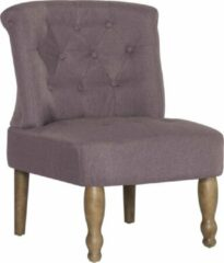 Merkloos / Sans marque Franse Stoel Stof Taupe / Loungestoel / Lounge stoel / Relax stoel / Chill stoel / Lounge Bankje / Lounge Fauteuil - Luxe Fauteuil